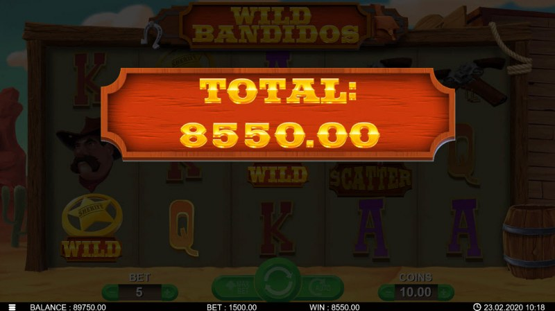 Wild Bandidos :: Total free spins payout