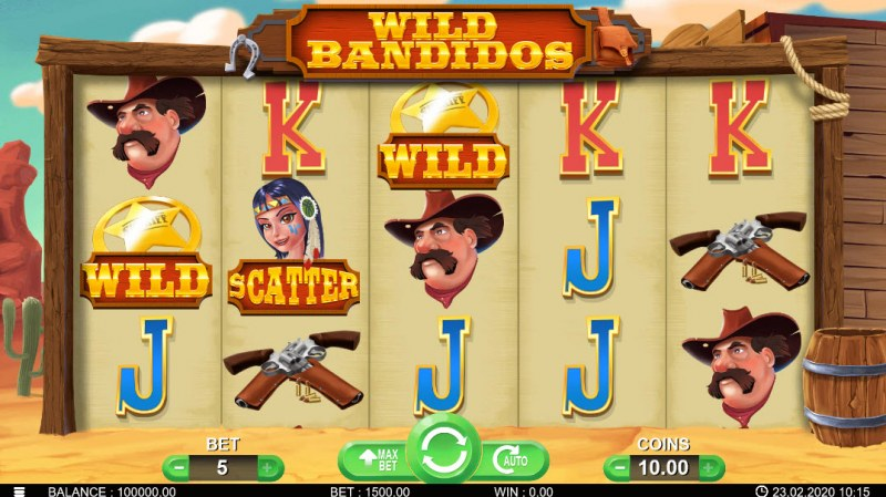Wild Bandidos :: Main Game Board