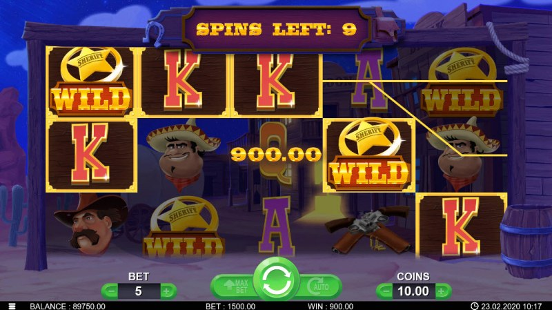 Wild Bandidos :: Free Spins Game Board