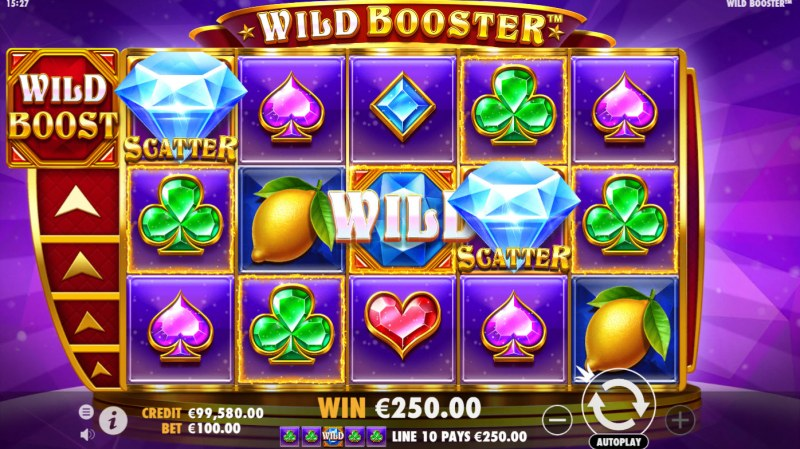 Wild Booster :: A four of a kind win