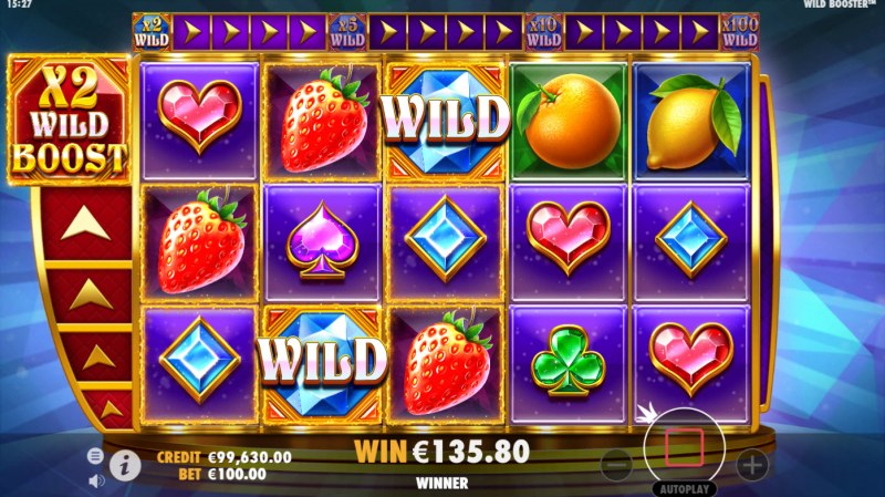 Wild Booster :: Free Spins Game Board