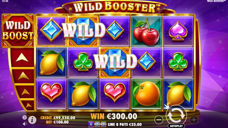 Wild Booster :: A three of a kind win