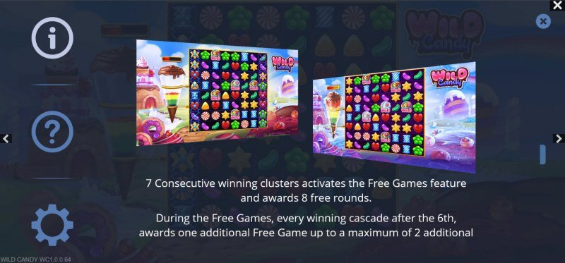Wild Candy :: Free Spin Feature Rules