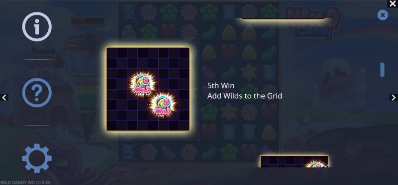 Wild Candy :: Add wilds to grid on 5th win