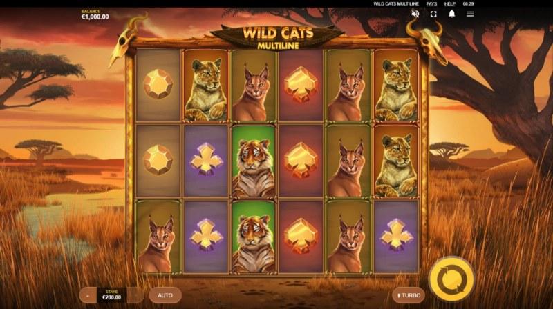 Wild Cats Multiline :: Main Game Board