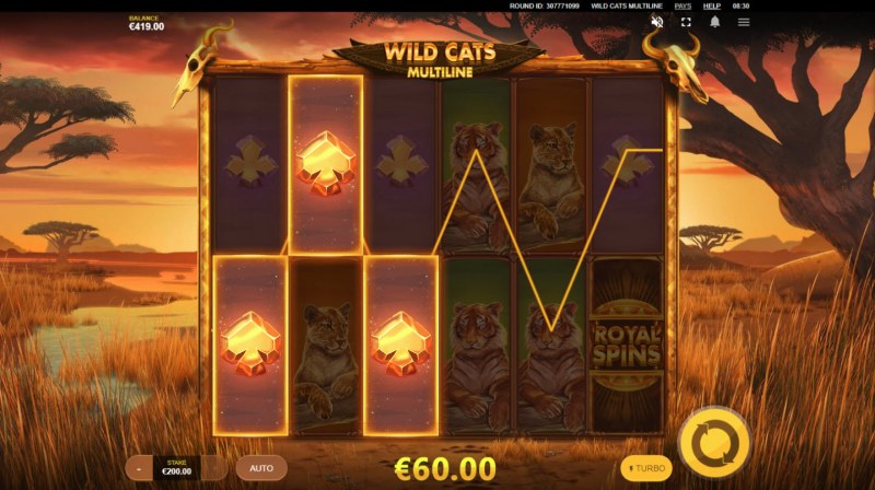 Wild Cats Multiline :: Three of a kind