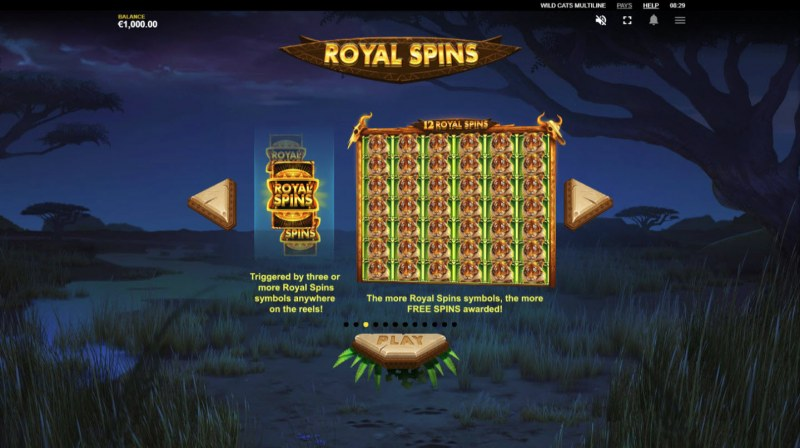 Wild Cats Multiline :: Royal Spins