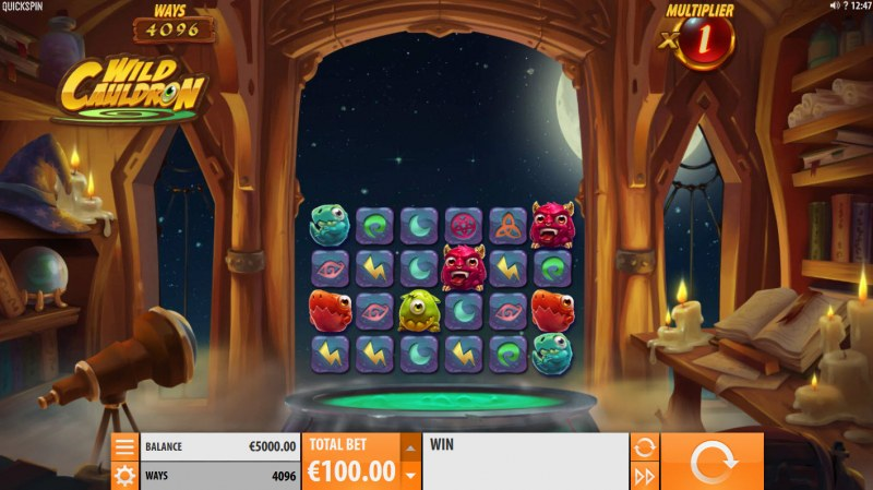 Play slots at VIP Casino: VIP Casino featuring the Video Slots Wild Cauldron with a maximum payout of $211, 995
