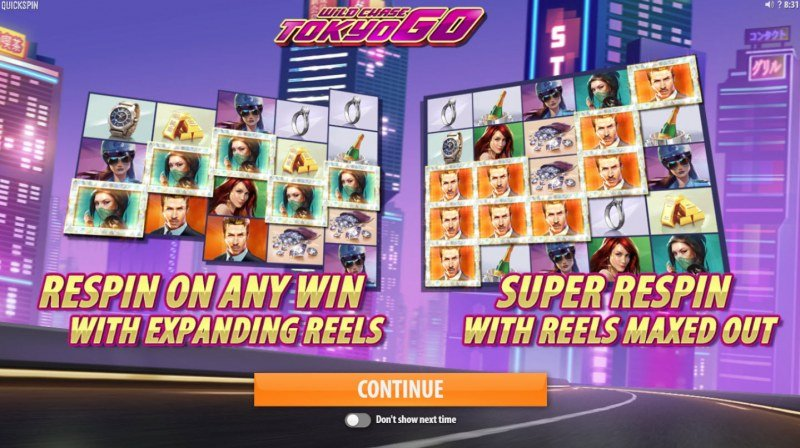 Play slots at Pokie Place: Pokie Place featuring the Video Slots Wild Chase Tokyo Go with a maximum payout of $64,750