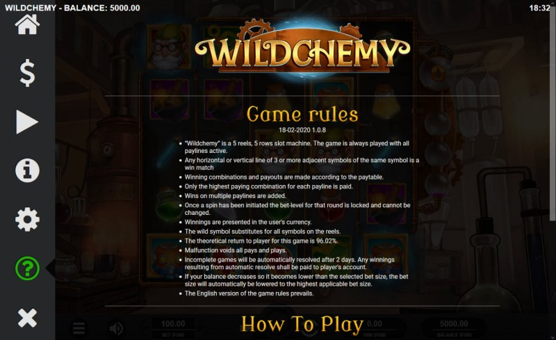 Wild Chemy :: General Game Rules