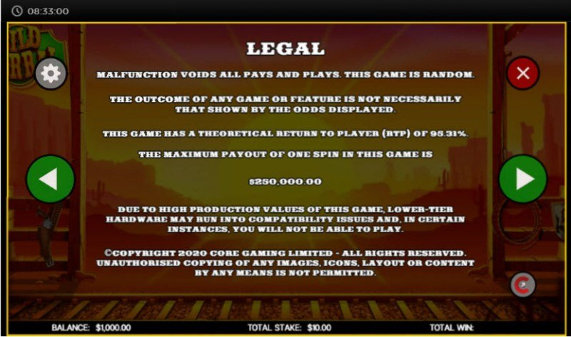 Wild Corral :: Legal