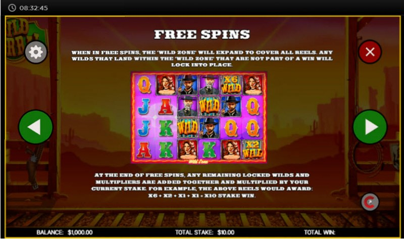 Wild Corral :: Free Spins Rules