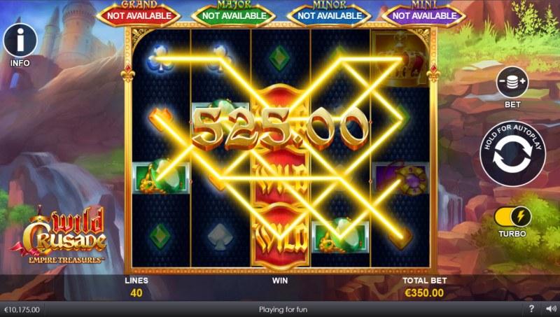 Wild Crusade Empire Treasures :: Multiple winning paylines