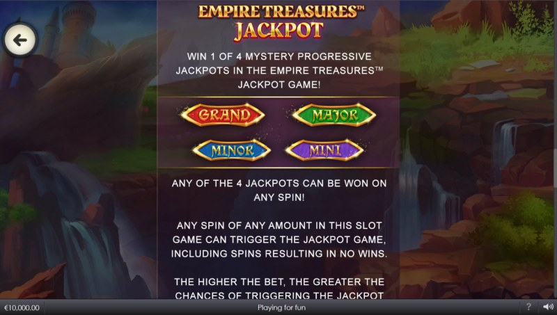 Wild Crusade Empire Treasures :: Jackpot Rules