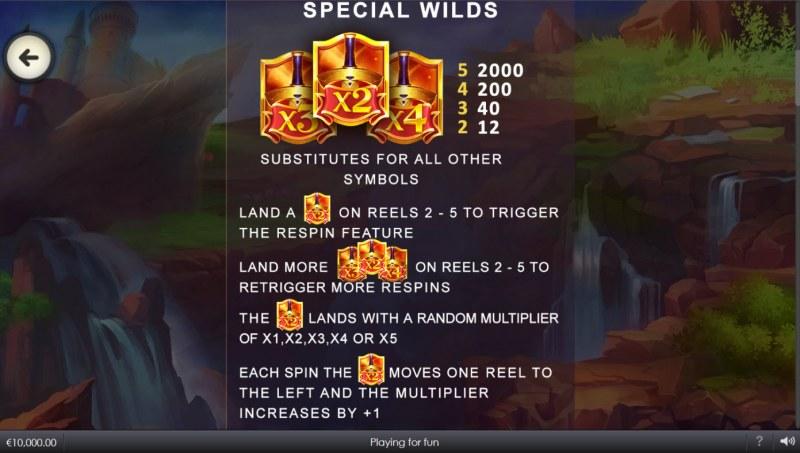 Wild Crusade Empire Treasures :: Special Wilds