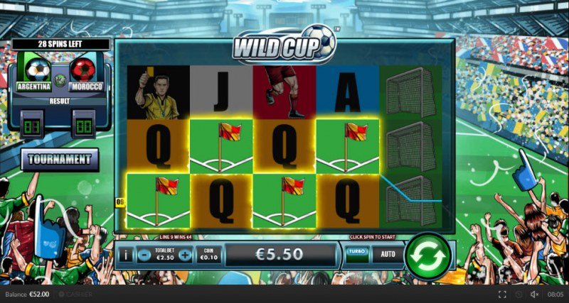 Wild Cup :: Four of a kind Win