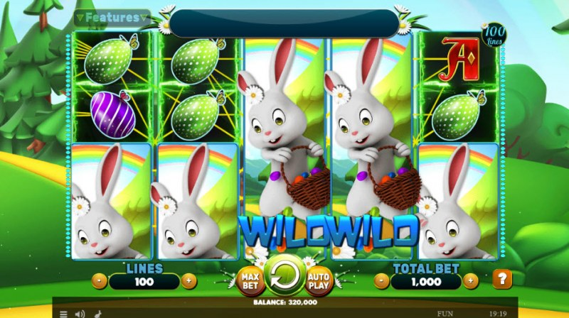 Wild Easter :: Stacked wilds trigger multiple winning lines