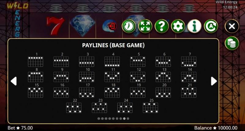 Wild Energy :: Paylines 1-25