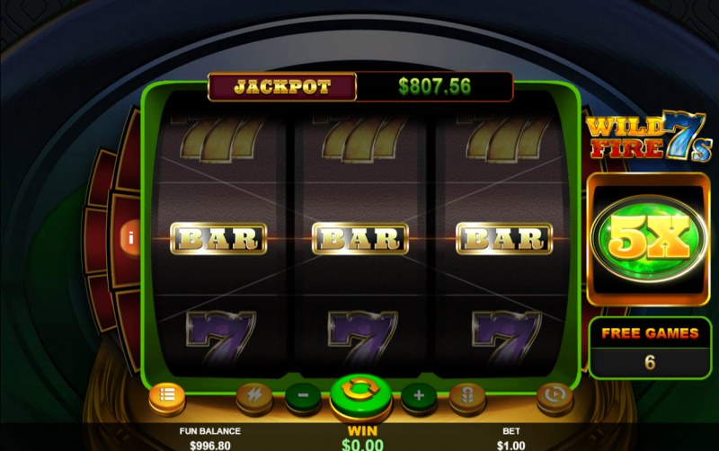 Wild Fire 7s :: Free Spins Game Board