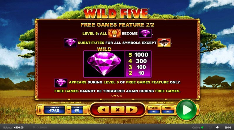 Wild Five :: Free Spins Rules