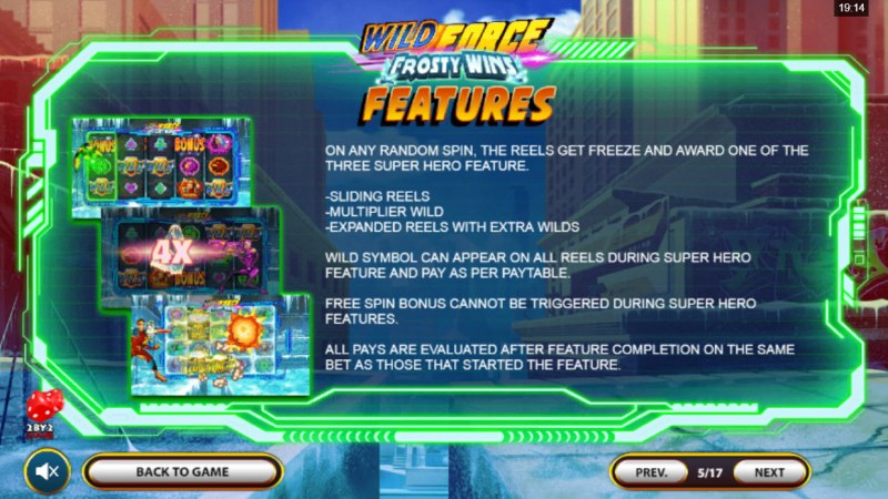 Wild Force Frosty Wins :: Feature Rules