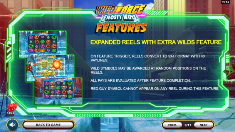 Wild Force Frosty Wins :: Expanded Reels with Extra Wilds Feature