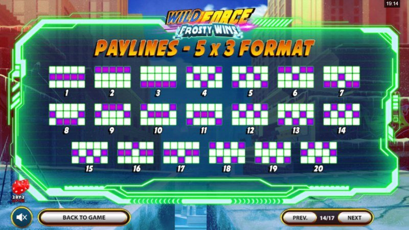 Wild Force Frosty Wins :: Paylines 1-20