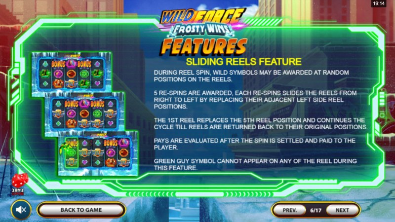 Wild Force Frosty Wins :: Sliding Reels Feature