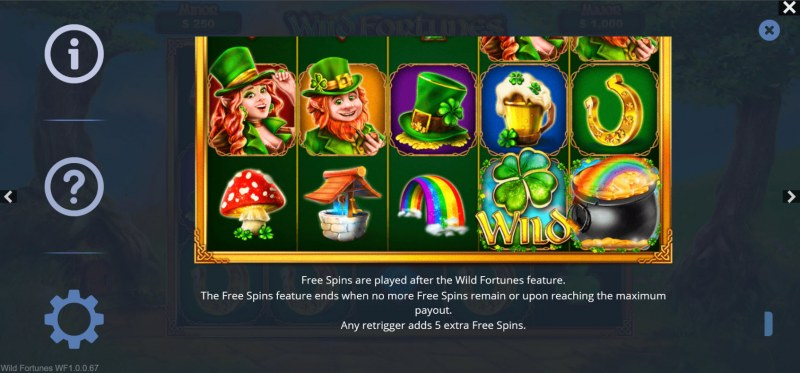 Wild Fortunes :: Free Spin Feature Rules
