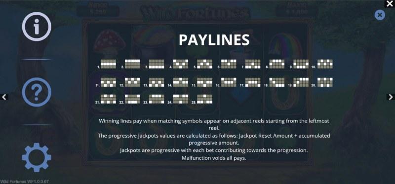 Wild Fortunes :: Paylines 1-25