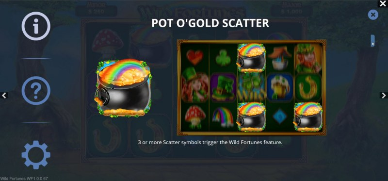 Wild Fortunes :: Scatter Symbol Rules