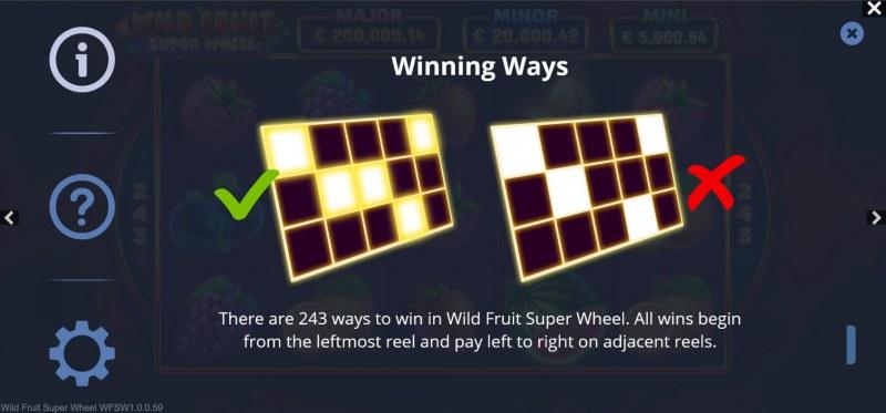 Wild Fruit Super Wheel :: 243 Ways to Win