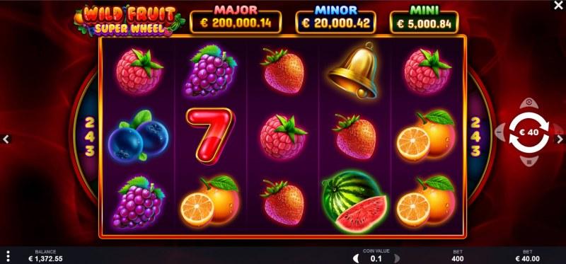 Wild Fruit Super Wheel :: Main Game Board