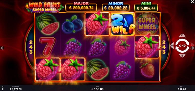 Wild Fruit Super Wheel :: 2X Wild Multiplier doubles the win