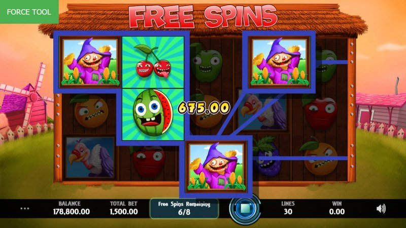 Wild Fruit :: Free Spins Game Board