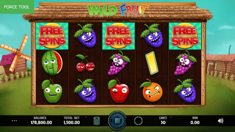 Wild Fruit :: Scatter symbols triggers the free spins feature