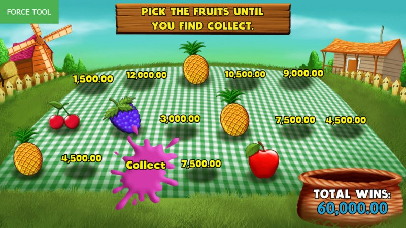 Wild Fruit :: Pick fruit for a chance to win cash prizes