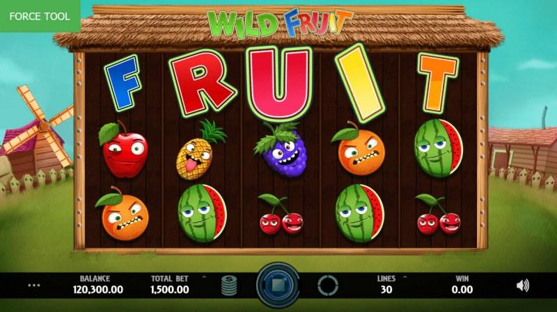 Wild Fruit :: Landing FRUIT across the reels triggers the bonus pick game