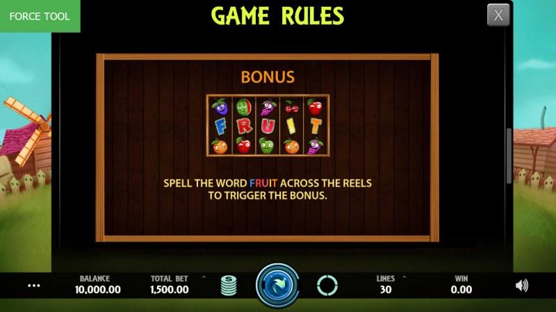 Wild Fruit :: Bonus Game Rules
