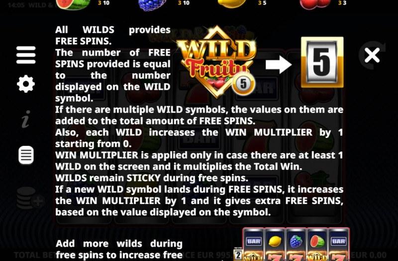 Wild & Fruity :: Wild Symbol Rules