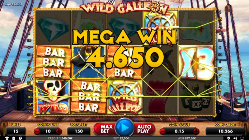 Wild Galleon :: Mega Win