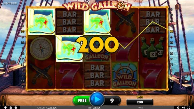 Wild Galleon :: Free Spins Game Board