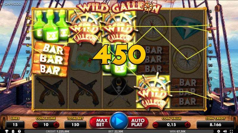 Wild Galleon :: Scatter symbols triggers the free spins feature