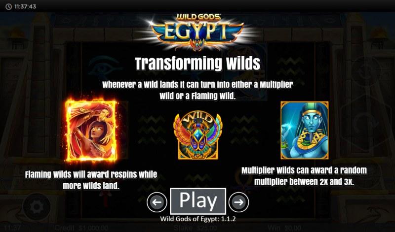 Wild Gods of Egypt :: Transforming Wilds