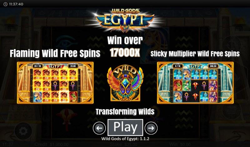 Wild Gods of Egypt :: Win Over 17,000x