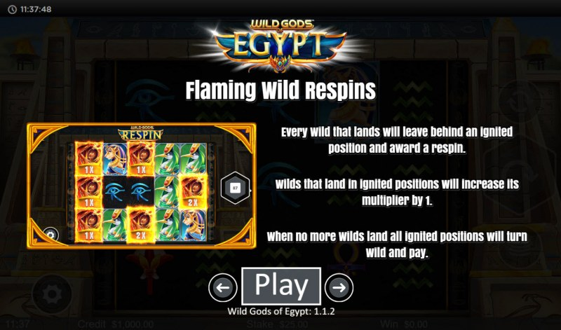 Wild Gods of Egypt :: Flaming Wild Respins