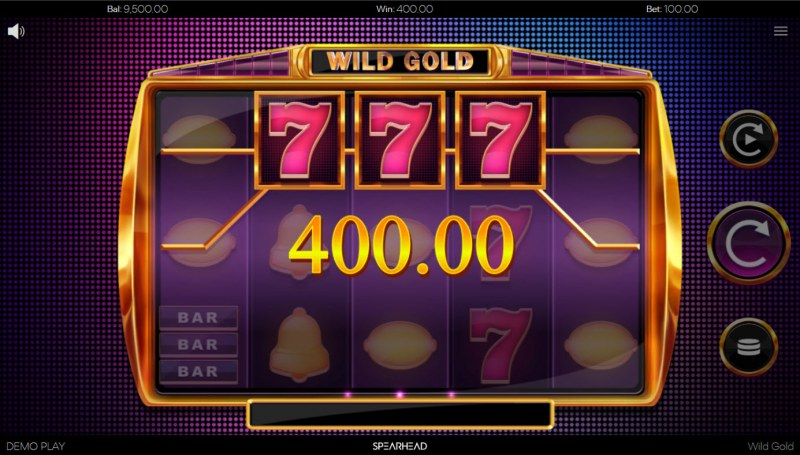 Wild Gold :: Game pays on any adjacent wins