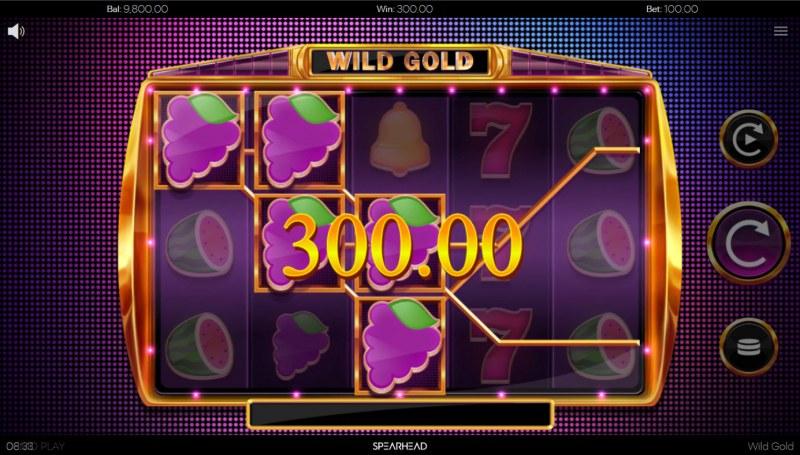 Wild Gold :: A three of a kind win