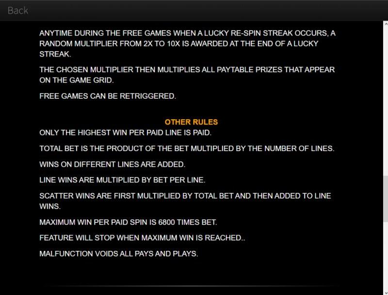 Wild Hog Luau :: General Game Rules