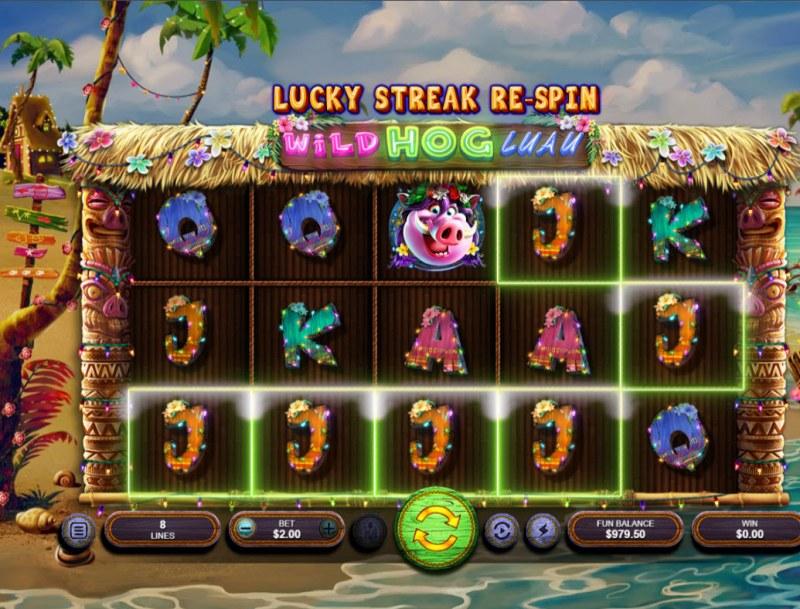 Wild Hog Luau :: A five of a kind win
